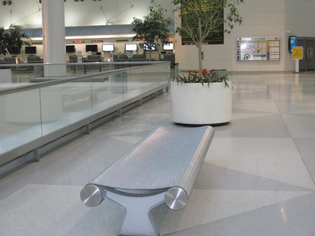 BWI Airport Decorative Wire Mesh Bench