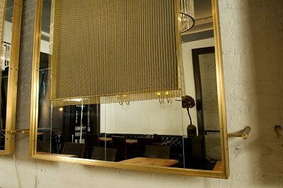 Decorative gold metal mesh