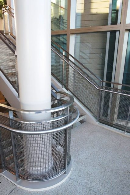 Architectural wire mesh material hospital