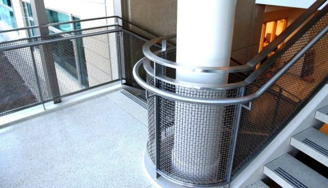 Architectural wire mesh material medical center