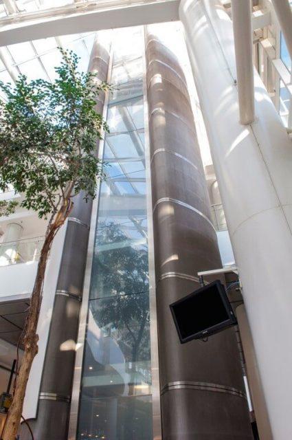 Steel decorative metal mesh elevator exterior