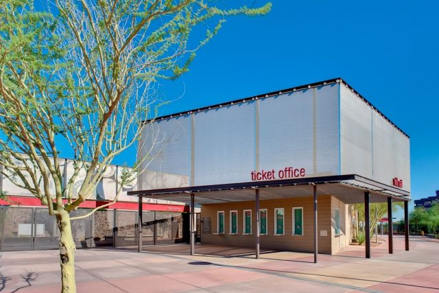 Incorporate metal mesh screens Phoenix municipal stadium