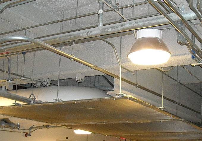 Wire Mesh System on Ceiling
