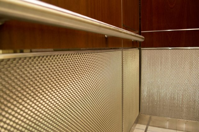 metal fabrics elevator interior design